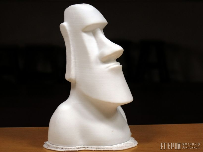Moai摩埃石像 模型 3D打印模型渲染图