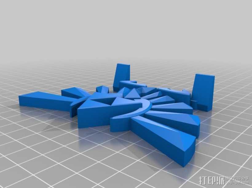海拉尔山峰 奖章 3D打印模型渲染图