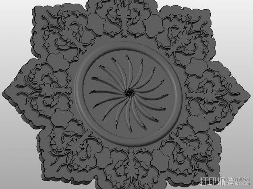雕刻物 3D打印模型渲染图