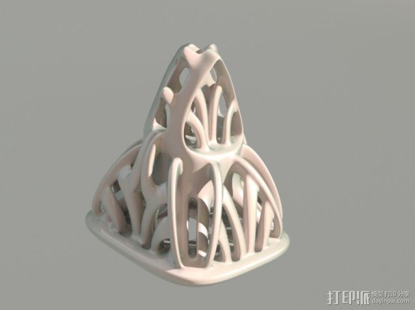镂空手工制品 3D打印模型渲染图