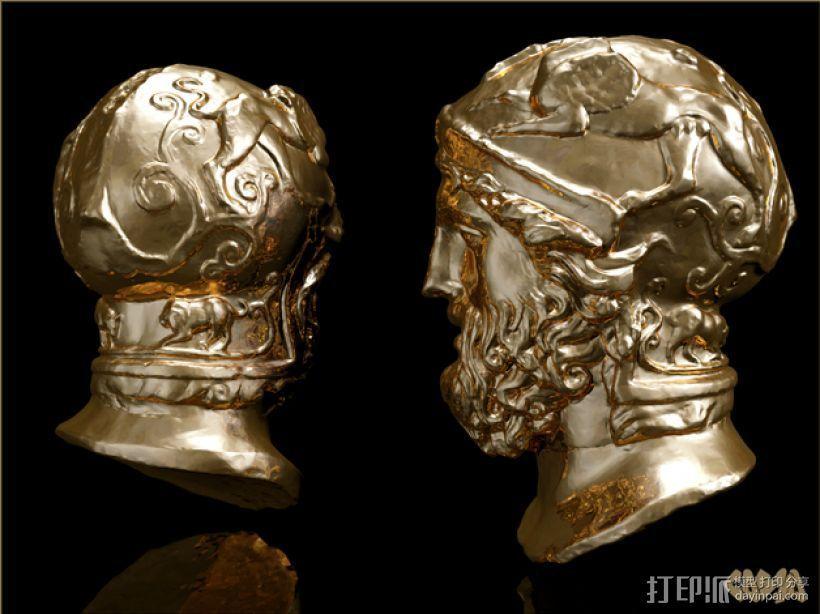 雅典英雄 3D打印模型渲染图