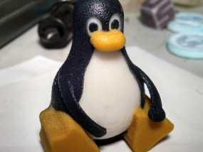 带颜色的企鹅