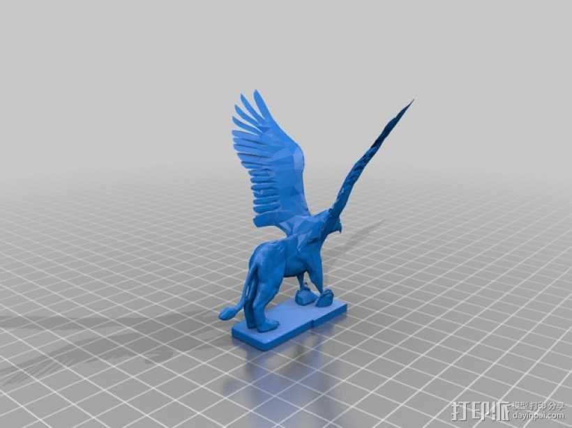 Griffin鹰头狮 模型 3D打印模型渲染图