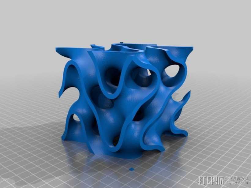 抽象派装饰 3D打印模型渲染图