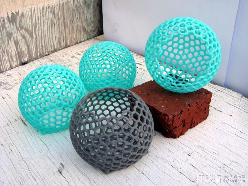 镂空球形容器 3D打印模型渲染图