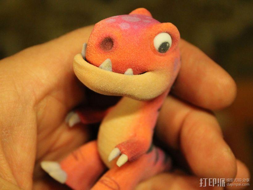 可爱的小恐龙 3D打印模型渲染图