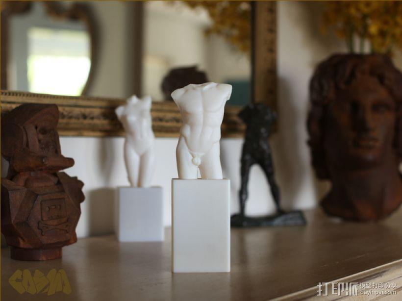 男性躯干 3D打印模型渲染图