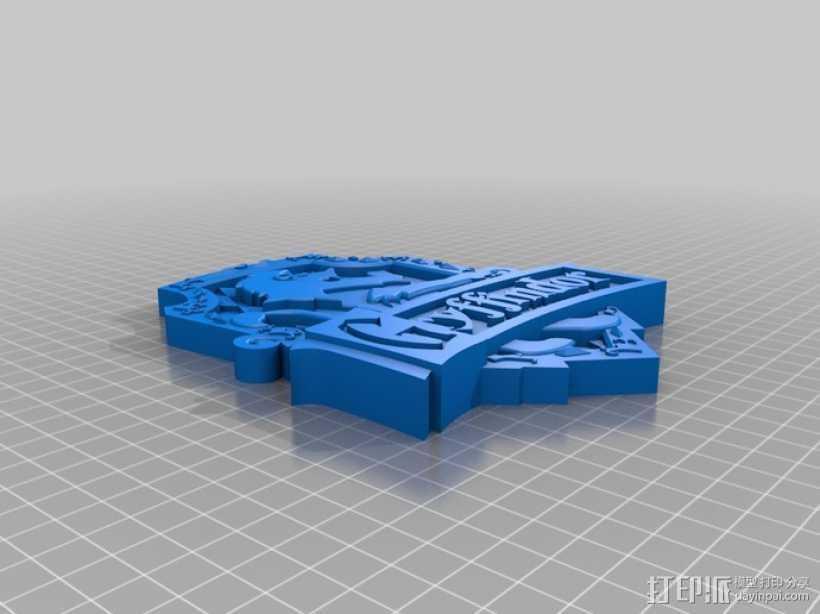 哈利波特Gryffindor Crest 3D打印模型渲染图
