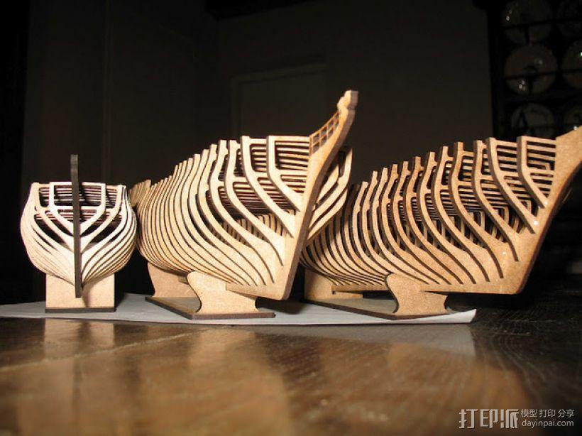 Chapman 40护卫舰 3D打印模型渲染图