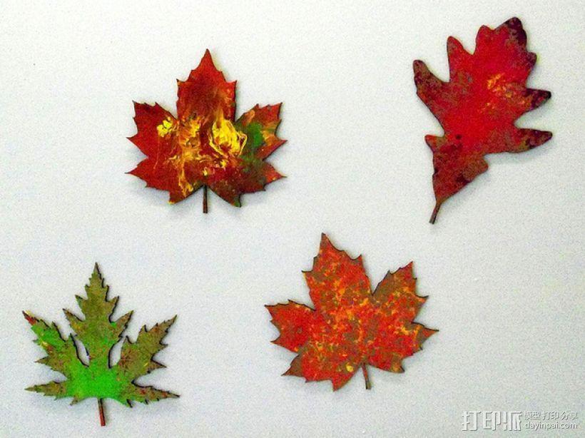 枫叶 3D打印模型渲染图