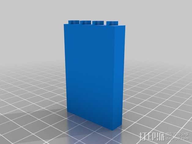 兼容乐高墙壁组件 3D打印模型渲染图