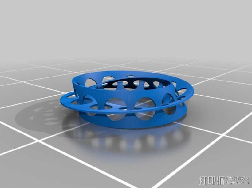 黄金比例莫比乌斯环带 3D打印模型渲染图