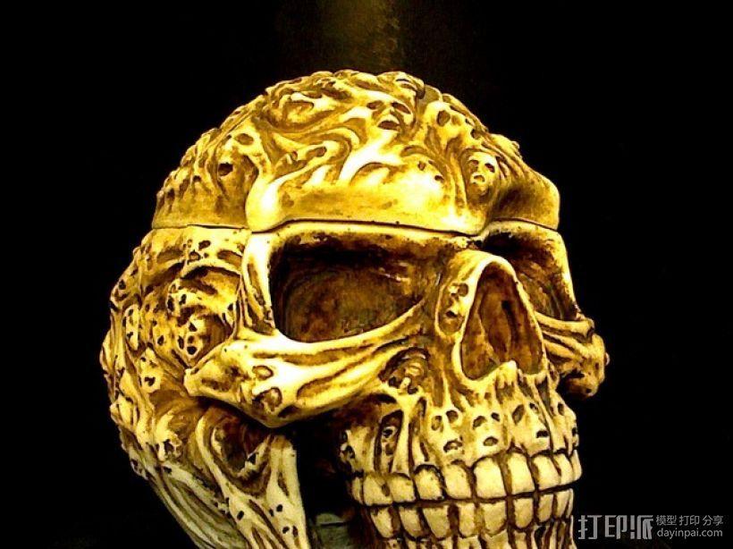 幽灵骷髅头 3D打印模型渲染图