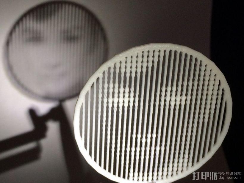 人脸漏字板 3D打印模型渲染图