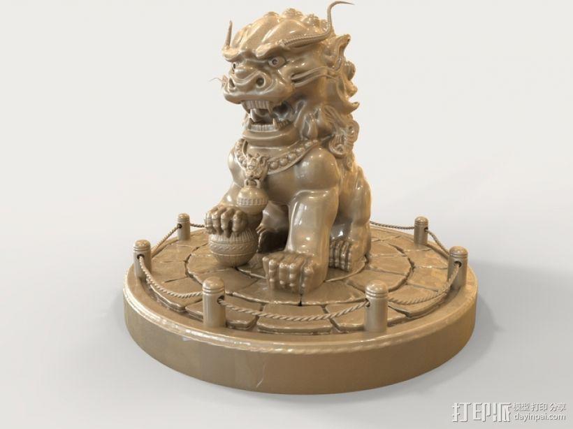 中国狮子 3D打印模型渲染图