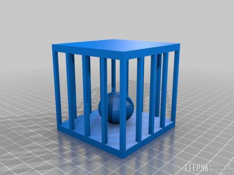 笼中球 3D打印模型渲染图