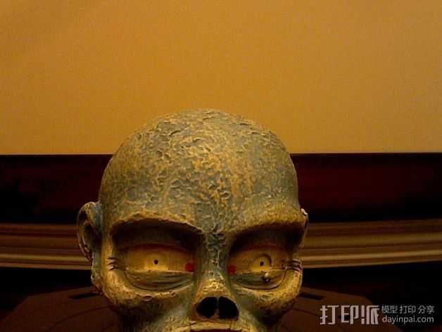 僵尸头 模型 3D打印模型渲染图