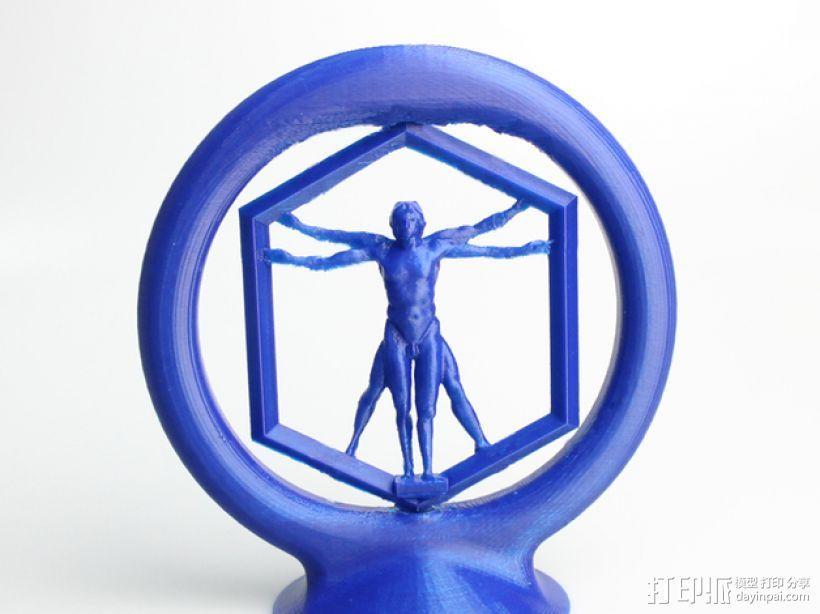 旋转的维鲁特威人 标志 3D打印模型渲染图