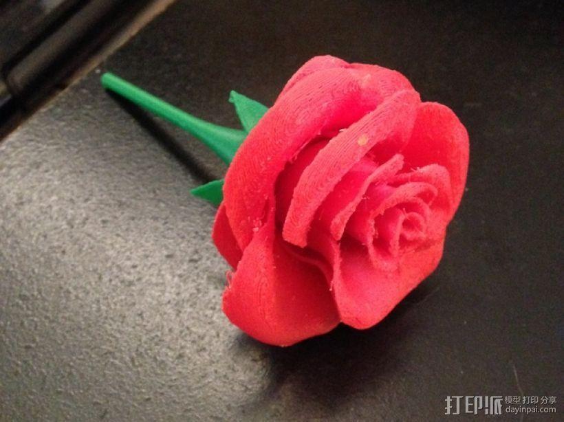 玫瑰花 3D打印模型渲染图