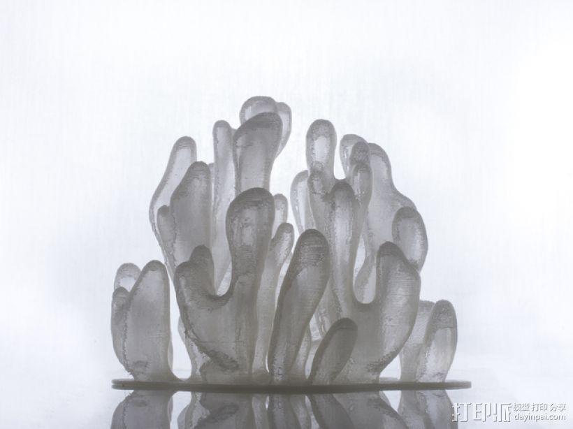 树枝形水晶 3D打印模型渲染图