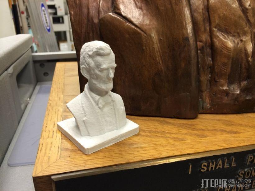 林肯半身像雕塑模型 3D打印模型渲染图