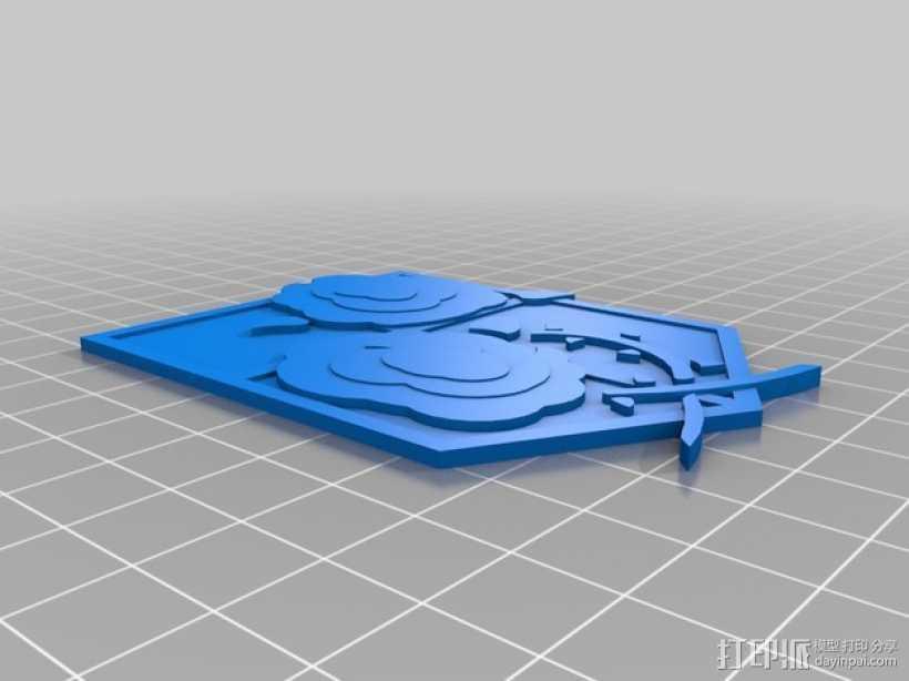 进击的巨人守卫兵团标识 3D打印模型渲染图