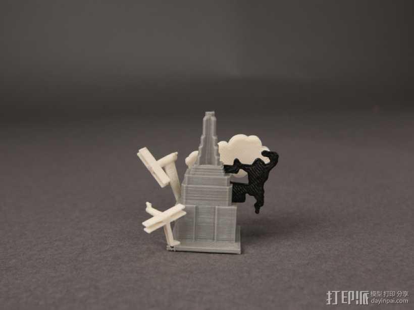 纽约帝国大厦上的金刚 3D打印模型渲染图
