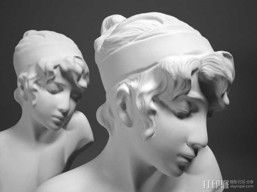 Sappho半身像雕塑模型 3D打印模型渲染图