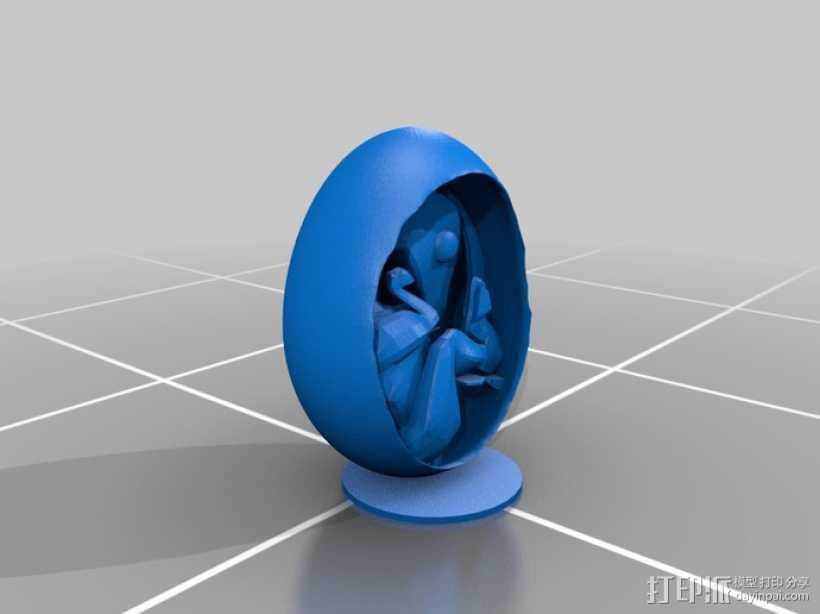 恐龙蛋模型 3D打印模型渲染图
