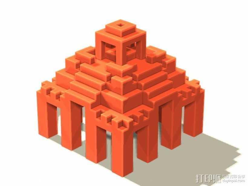 寺庙 模型 3D打印模型渲染图
