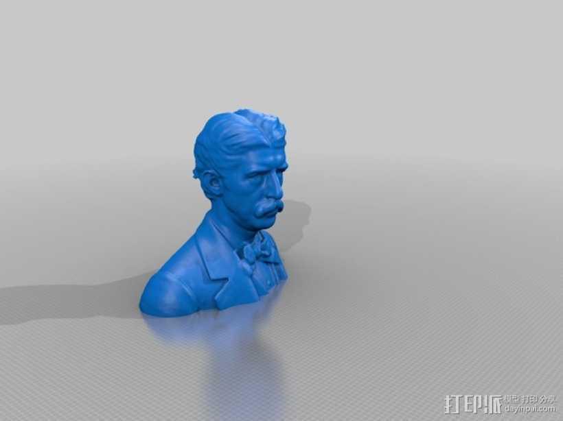 Hanibal Hamlin Kimball博士 半身像模型 3D打印模型渲染图