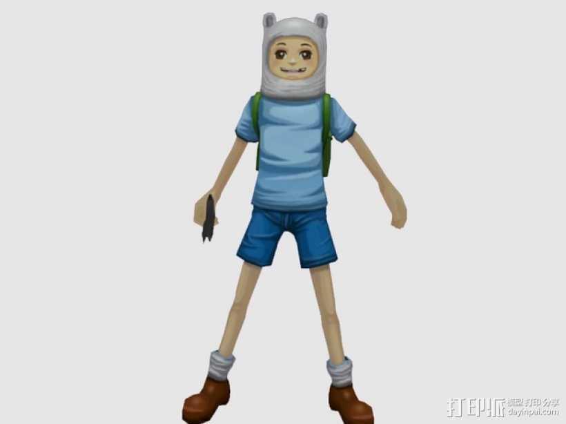 Finn人物模型 3D打印模型渲染图
