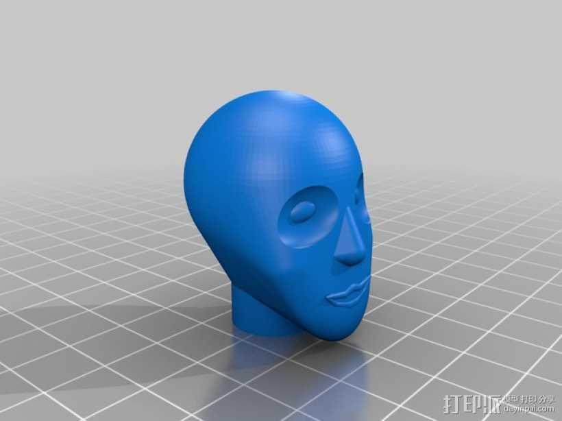 人脸模型 3D打印模型渲染图