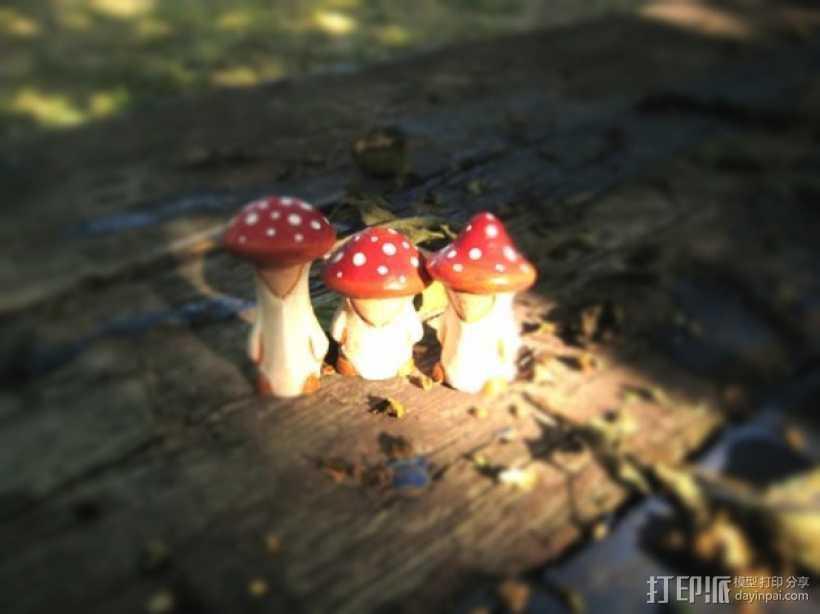 蘑菇小人 模型 3D打印模型渲染图
