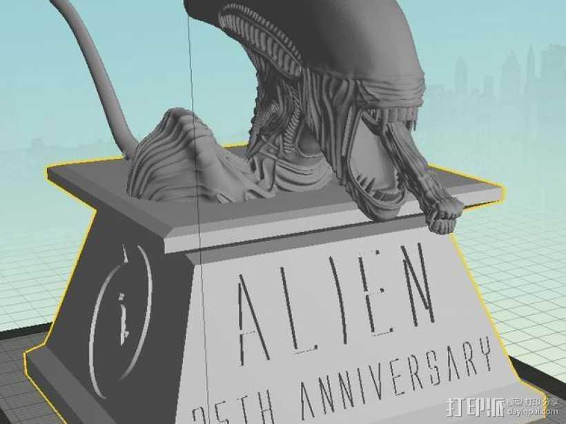 外星人 半身像模型 3D打印模型渲染图