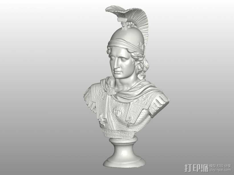 亚历山大大帝半身像模型 3D打印模型渲染图