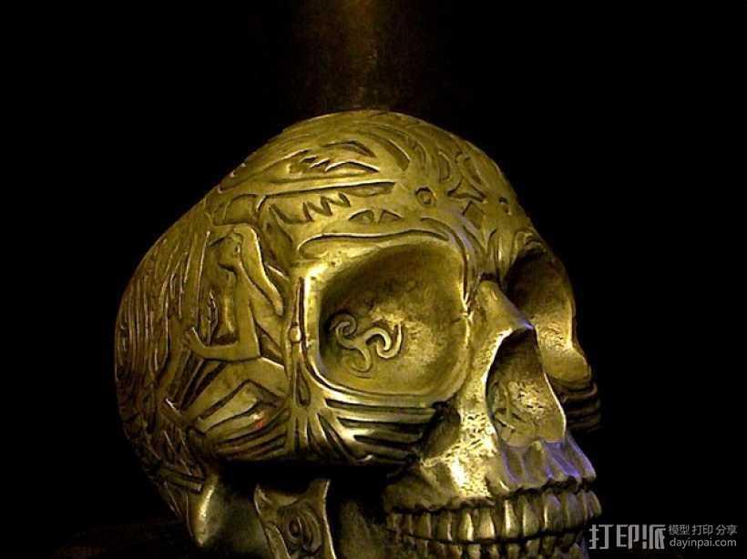 凯尔特头骨 3D打印模型渲染图