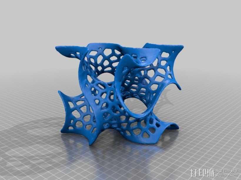 泰森多边形 螺旋体 3D打印模型渲染图