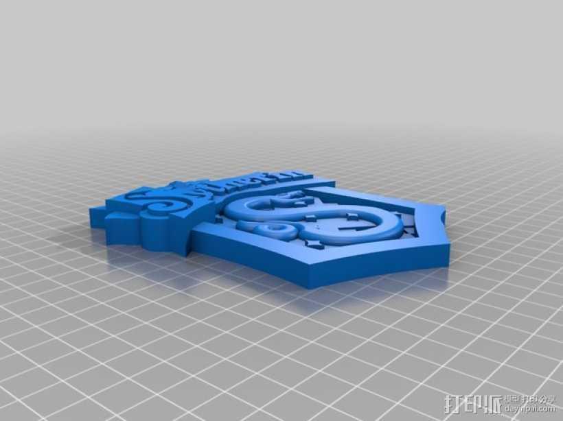 Slytherin斯莱特林学校标志 3D打印模型渲染图