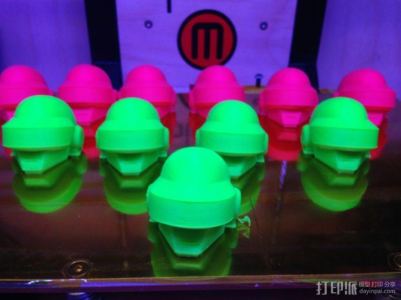 蠢朋克头盔 3D打印模型渲染图