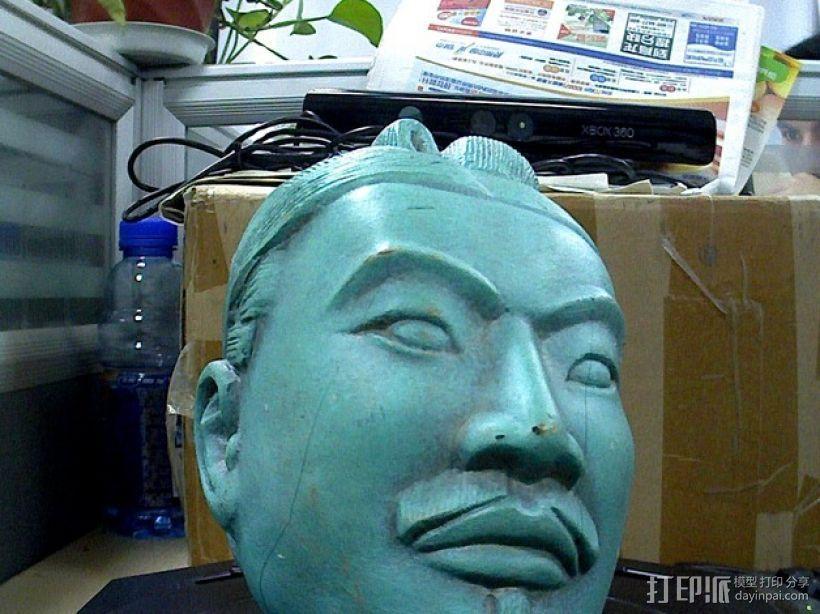 兵马俑 头像模型 3D打印模型渲染图