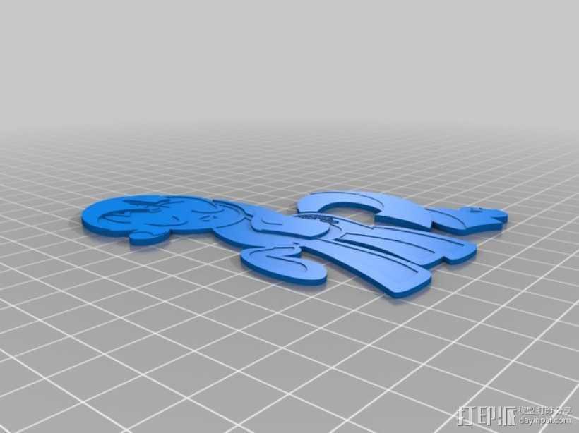 Rarity独角兽小马 3D打印模型渲染图