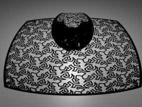 埃舍尔蜥蜴 立体投影球