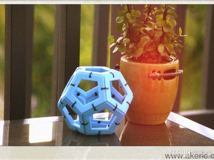 正十二面体 3D打印模型渲染图