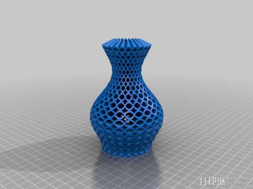 花瓶 3D打印模型渲染图