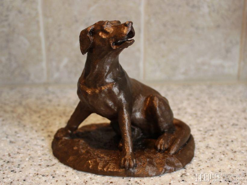 拉布拉多犬 模型 3D打印模型渲染图