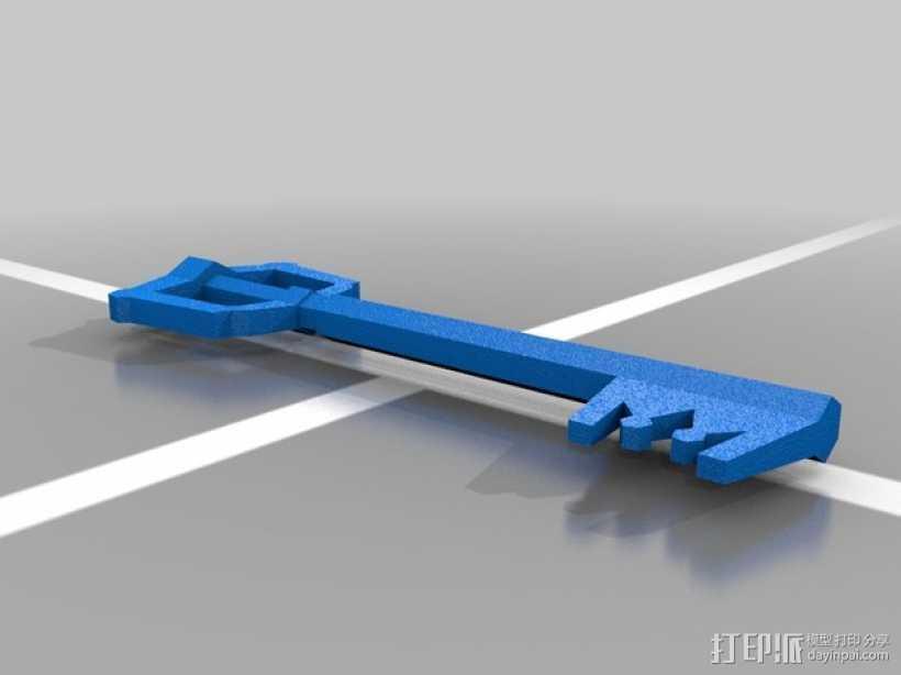 王国之心 钥匙 3D打印模型渲染图