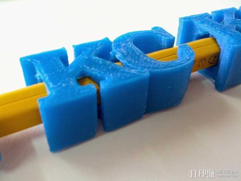 KC 铅笔夹 3D打印模型渲染图