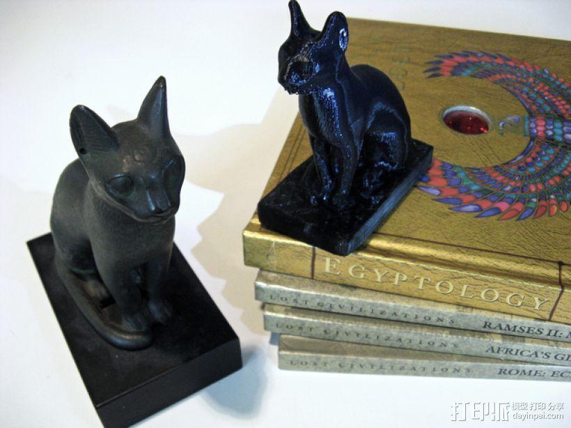 埃及猫 模型 3D打印模型渲染图