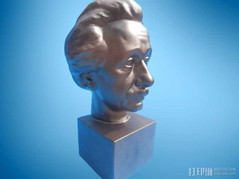 Albert Einstein爱因斯坦半身像模型 3D打印模型渲染图